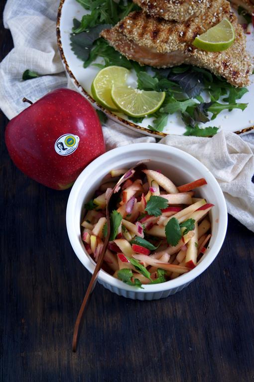 Grillowana pierś z indyka z salsą jabłkową (4)