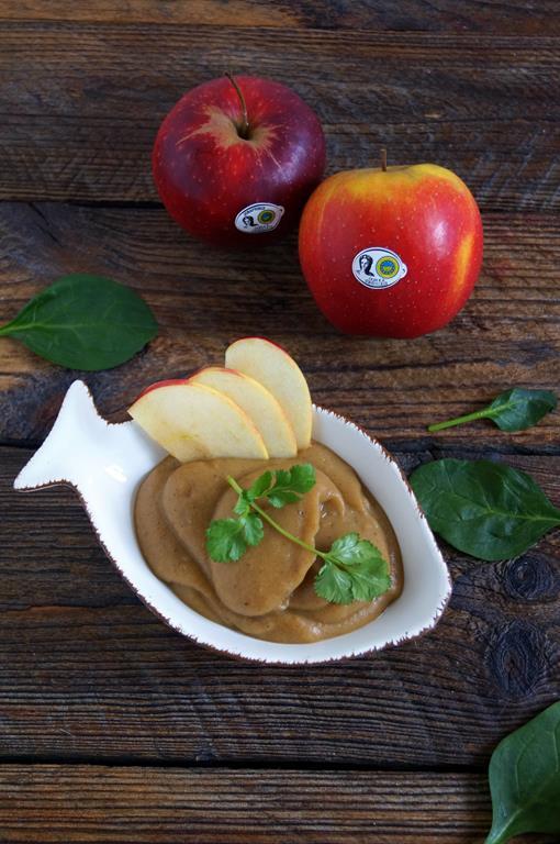 Dorsz zapiekany z boczkiem musem jabłkowym (3)